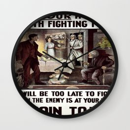 Vintage poster - Is Your Home Worth Fighting For? Wall Clock