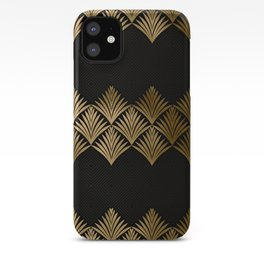 Reims, France: Luxueux Black and Gold Art Deco iPhone Case