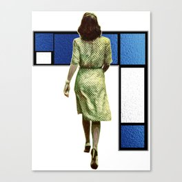 Woman In The City Canvas Print
