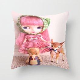 Barvarian Cutie Throw Pillow