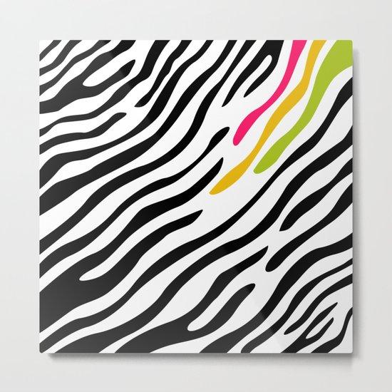 Zebra print. Multicolor Metal Print
