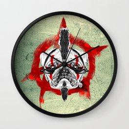 Punk Pug Wall Clock