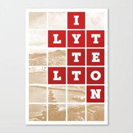 I Love Lyttelton Kraft Canvas Print