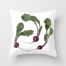 Scarlet Turnips Throw Pillow