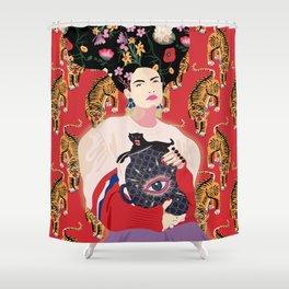 Let your mind blossom - Fashion portrait Shower Curtain