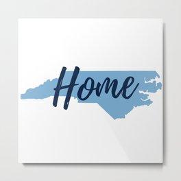 North Carolina Home State Map Print Metal Print