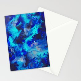 Blue Fluid Motion - by Jenny Bagwill Stationery Cards
