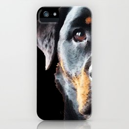 Rottie Love - Rottweiler Art By Sharon Cummings iPhone Case