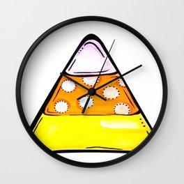 Candy Corn - White Wall Clock