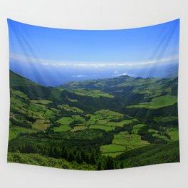 Green coastal landscape Wall Tapestry