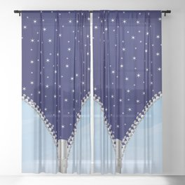 Zipper Day And Night Sheer Curtain