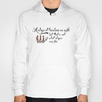 ships Hoodies featuring ships by quotique