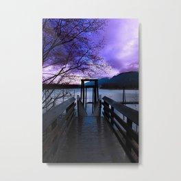 Fishing Dock Metal Print