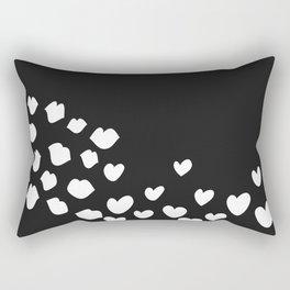 KisseS and HeartS Rectangular Pillow