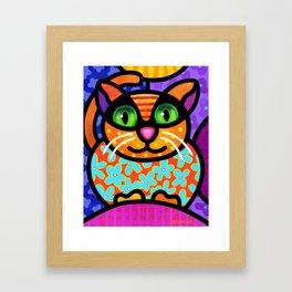Contented Cat Framed Art Print