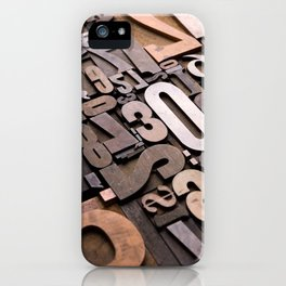 Numbers - Typography Photography™ iPhone Case