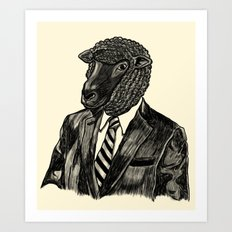 Mr. Black Sheep Art Print