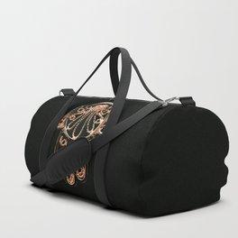 Golden Hamsa Hand On A Black Background #decor #society6 Duffle Bag