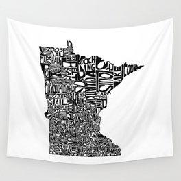 Typographic Minnesota Wall Tapestry