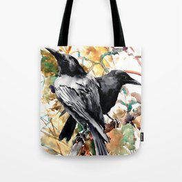 Ravens in the Fall, raven wall art Tote Bag