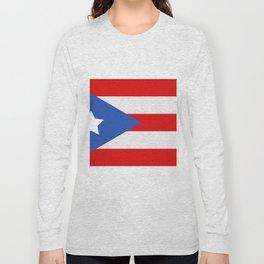 flag puerto rico Long Sleeve T-shirt