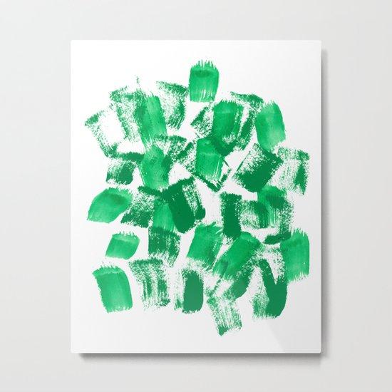 Mindi - painterly painting abstract minimal monochromatic bright boho modern brushstrokes art Metal Print