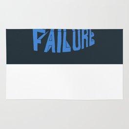 future failure hand lettering Rug