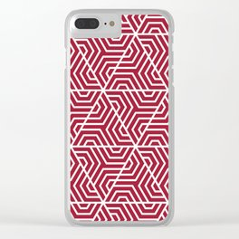 Crimson (UA) - purple - Geometric Seamless Triangles Pattern Clear iPhone Case