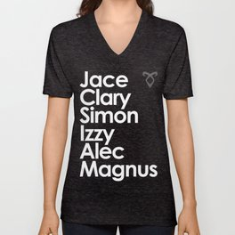 The Mortal Instruments' Main Characters Unisex V-Neck