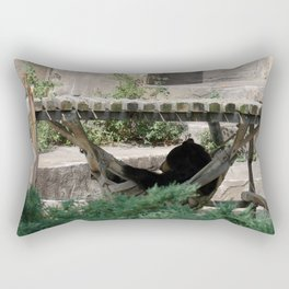 Lazy Bear in Hammock Rectangular Pillow