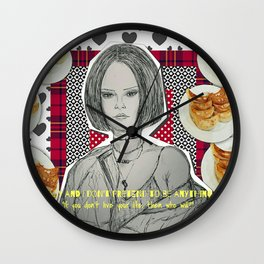 (Badgalriri - Rihanna) - yks by ofs珊 Wall Clock