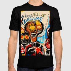 Head full of dreams Black X-LARGE Mens Fitted Tee