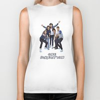 one direction Biker Tanks featuring One Direction by ezmaya