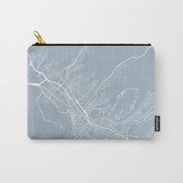 Honolulu Map, USA - Slate Carry-All Pouch