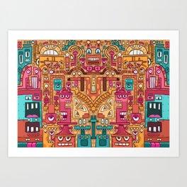 Robopattern Art Print
