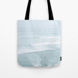 Tiny Surfers from the Sky, Lima, Peru Tote Bag