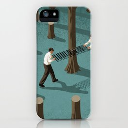 barcode loggers iPhone Case