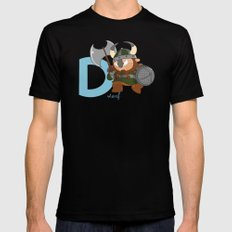 d for dwarf Mens Fitted Tee LARGE Black