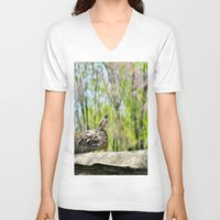 sparrow V-neck T-shirts featuring Sparrow by KimberosePhotography