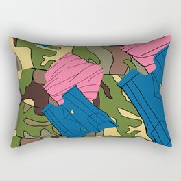 Army Girl Clothing Rectangular Pillow