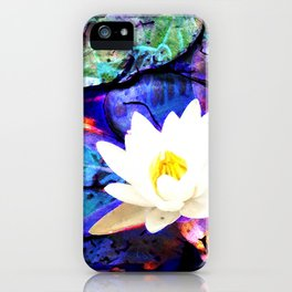 Electrifying Lotus iPhone Case