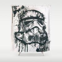 stormtrooper Shower Curtains featuring Stormtrooper by Ren Davis
