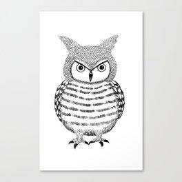 Tough Love Owl Canvas Print