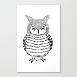 Tough Love Owl Canvas Print