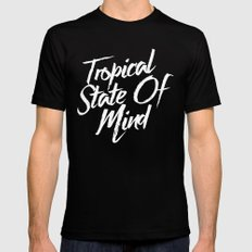 Tropical State Of Mind Black Mens Fitted Tee LARGE