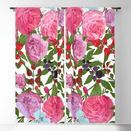 Roses and Fruit Blackout Curtain