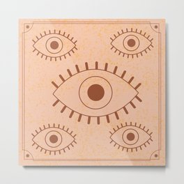 Retro Evil Eye II Metal Print