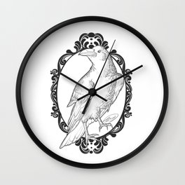 Quoth the Raven, Nevermore (white) Wall Clock
