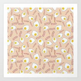 Eggs and bacon Art Print