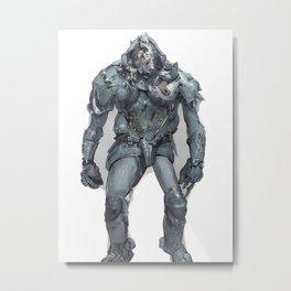 Fantasy Theme Art Unique And Unusual Metalworks Knight Metal Print